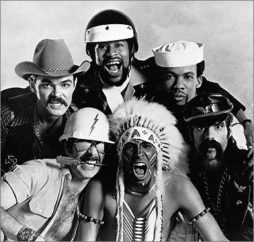 The Village People, shown here in 1979, may have had the disco anthem of the 1970s with 'YMCA' and their varied mustaches paved the way to a trademark image. <!-- // define variables var date = new Date(); var current_time = date.getTime(); // write SCRIPT tag to browser document.writeln(' '); // -->