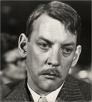 Donald Sutherland grew this conservative mustache for his role as Homer Simpson, a bookkeeper from the Midwest who is seduced by Hollywood and its denizens, in 'The Day of the Locust,' in 1975. <!-- // define variables var date = new Date(); var current_time = date.getTime(); // write SCRIPT tag to browser document.writeln(' '); // -->