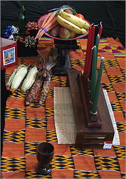 Kwanzaa has seven symbols of African culture: mazao (the crops), mkeka (the mat), kinara (the candle holder), muhindi (the corn), mishumaa saba (the seven candles), kikombe cha umoja (the unity cup), and zawadi (the gifts).