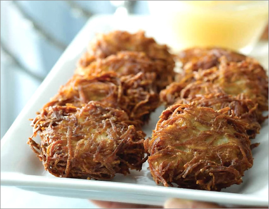 "Latkes from ""Quick & Kosher: Recipes from the Bride Who Knew Nothing..."