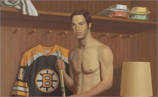 Derek Sanderson painting