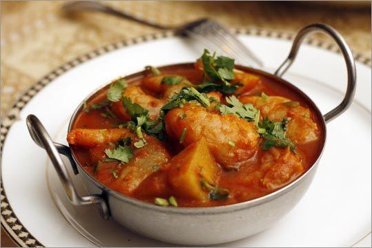 Shrimp vindaloo at India Quality