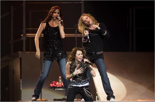 Candice Accola, Kay Hanley, and Miley Cyrus