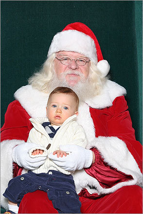 Zach, of Plymouth, and Santa.