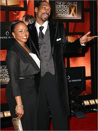 Rapper Snoop Dogg and wife Shante Taylor