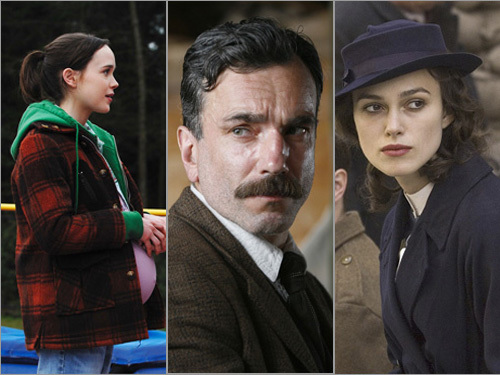'Juno,' 'There Will Be Blood,' 'Atonement'