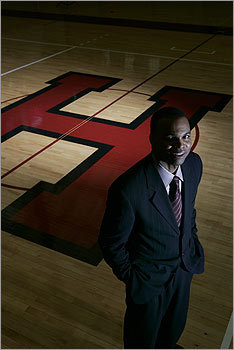 PROFESSOR OF BALL It's not every day that Harvard University lands a Big Name coach. But that's exactly what happened last April when it hired former Duke University star and University of Michigan coach Tommy Amaker to lead its men's basketball program. Already, Amaker appears to be making a difference. In a game last month against Amaker's old school, Michigan, the Crimson beat the Wolverines 62 to 51.