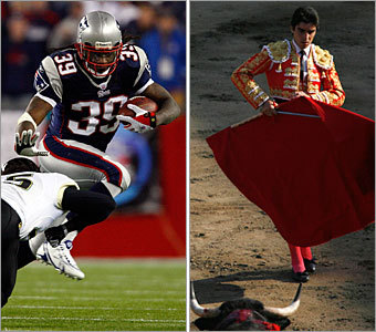 Current job: Running back Could have been: Bullfighter It takes a certain kind of man to look at a line of 300-plus-pound men trying to smash you, and still have the fortitude, strength, and quickness to face and then dodge them. As for dressing up in sequins and waving a red towel, well, every job has its drawbacks.