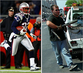 Current job: Cornerback Could have been: Repo man On the football field, Asante is the best at repossessing the ball for the Patriots offense, snagging a team-high six interceptions during the 2007 regular season. If he weren't a Patriot, we think he'd make you think twice about missing a car payment.