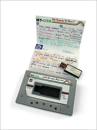 1. Make a 'digital' mixtape You don't need author Nick Hornby to tell you how special a mixtape can be. The beauty of making a mixtape is how customized it can be to the person it's intended for. But in the digital age, cassettes are no longer the preferred medium. Bring back the special feeling of filling out the track listing with this 64MB USB drive that fits into a case that looks like a cassette and stores about an hour of music. The drive costs $19.