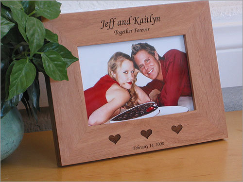 8. Put your love on display Frame your love for all to see with a personalized picture frame. Starting at $15.95, you can create a custom frame to display in your home.