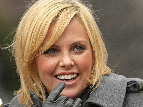 Charlize Theron at the Hasty Pudding Theatricals parade