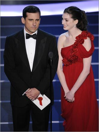 Steve Carell and Anne Hathaway