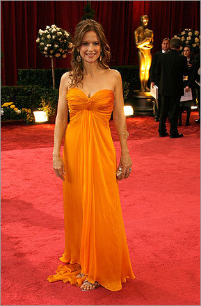 The actresses scoring points on the red carpet smartly stayed away from fruity frocks, such as Kelly Preston's Tropicana-orange chiffon dress.