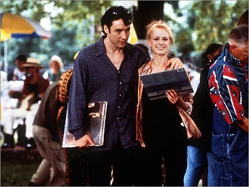 From left; John Cusack as Rob and Iben Hjejle as Laura