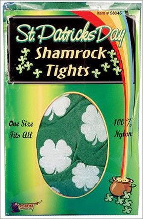 St. Patrick's Day shamrock tights : $4.99 If you're truly going to get decked out for St. Patrick's Day, you have to show your pride wherever possible. Green hat, green shirt, green pants, green shoes. That's why these handy shamrock tights were made — to make sure you've covered in green, top to bottom.