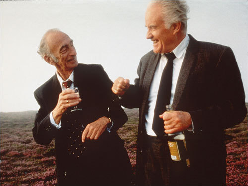 'David Kelly and Michael O'Sullivan in Waking Ned Devine'