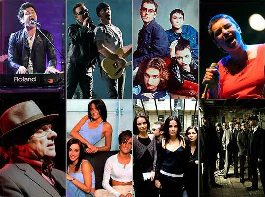 Musicians with Celtic pride
