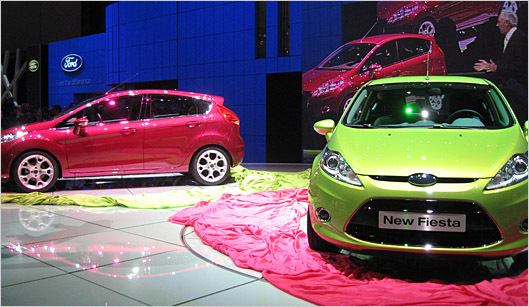 The new Ford Fiesta, due for the United States in 2010, is the first of many upcoming European models that Ford is planning for global markets.