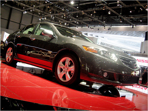 Honda Accord The highs: Solid build quality inside and out and attractive BMW-inspired 'surface flaming.' The lows: This Accord has a prettier face than its US counterpart. (Clifford Atiyeh / Boston.com)