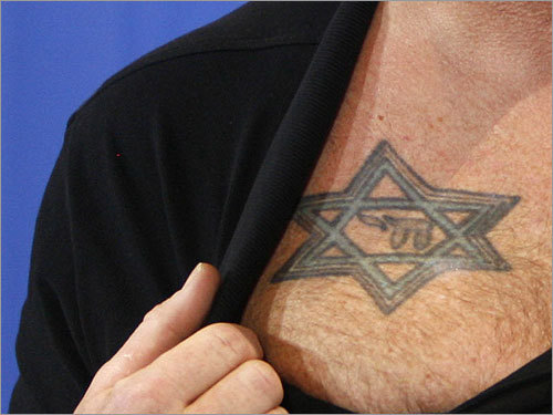 Which actor does this Star of David tattoo belong to?