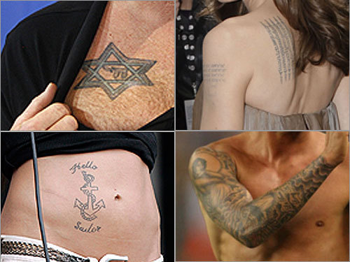 Guess the celebrity tattoo. Celebrities leave their marks on the world in a