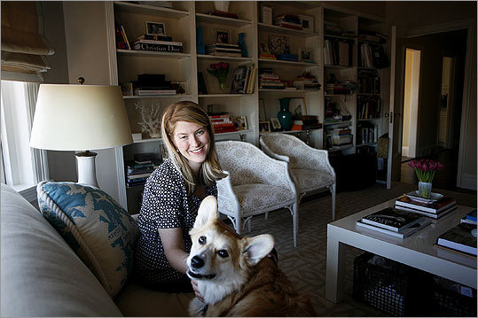 Superb The Condo Of Annsley McAleer (with Dog Sebastian) Includes Turquoise And  Cream Pillows And