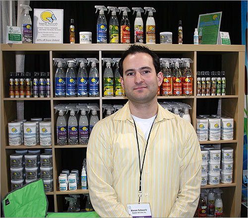 Looking outside the pantry for natural cleaning solutions? Many stores sell 100 percent natural cleaning products. The most popular items are an all-purpose cleaner, which can be used on any surface, and a natural air freshener, said Seaside Naturals salesman Kinnon Schwartz. The products are plant- and vegetable-based.