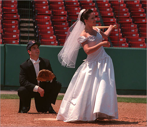 We know you love your significant other. But odds are, you probably love the Red Sox, too. Merge the two, says reader 'nshalsey,' and take your wedding photos at Fenway Park . Who knows, maybe you're one step ahead and already proposed on the Jumbotron. To book an event at the ballpark call 617-226-6791 or email events@redsox.com.