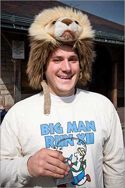 Eli Hebert cheered on his friend Ben Krass in Framingham.