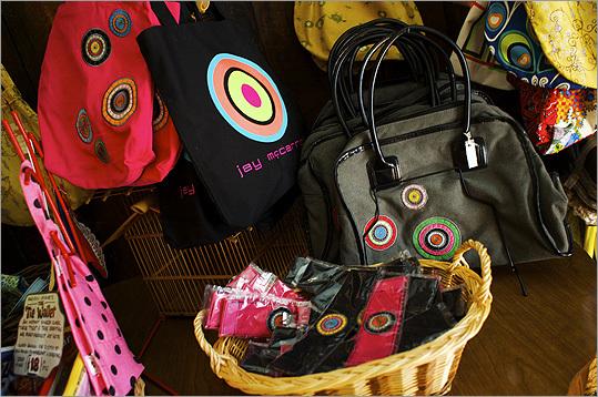 Jay McCarroll's handbag designs