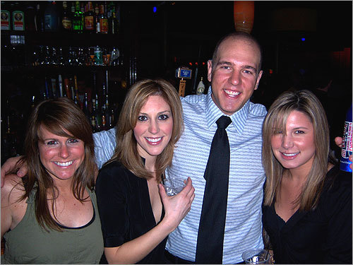 Party on, Boston Holding court: Frank Ciampa of the South End submitted this photo from his 25th birthday celebration at the Harp. ('My favorite bar in Boston,' he wrote.) From left to right: Amanda Kohen, Caitlin Bendiak, Ciampa, and Natalie Cabrera.
