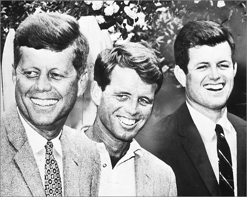 John Kennedy, Robert Kennedy, and Edward 'Ted' Kennedy