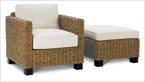 Sanibel chair and ottoman by Rowe