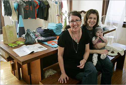 The two moms -- Mallon, 37, lives in Cambridge, while Browning, 40, is in Marblehead -- had years of experience in the clothing industry and knew they wanted to use organic cottons and formaldehyde-free dyes. They also wanted a unique look.