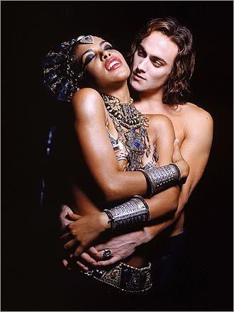 Aaliyah and Stuart Townsend