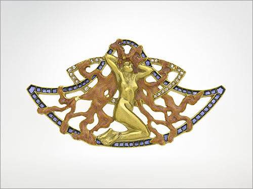 Brooch with Female Figure. 1903. By René Lalique.
