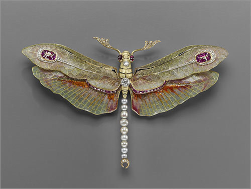 Dragonfly pendant-brooch , 1904. Philippe Wolfers (Belgian, 1858&#150;1929). Platinum, gold, enamel, diamond, ruby, and pearl.