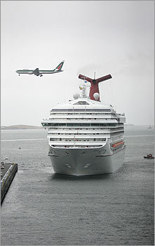 4. Cruise from Boston Cruising is a really inexpensive, stress-free way to travel. After the hussle and bustle of wedding-planning, who can't use a break? Meals and most on-board entertainment are included in one flat rate. And you can squeeze more out of your travel buck by departing from Boston. There are a surprising, and growing, number of cruises that leave right here in Beantown, saving you airfare, tolls, parking fees and, not least, the hassle.