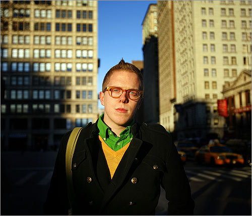 Michael Adams is one of the contestants on Bravo's new reality-TV competition show, 'Top Design.' Adams moved to New York from his rural Massachusetts home five years ago to attend the Fashion Institute of Technology.