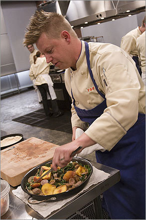 Reality TV has long been fertile ground for fauxhawk watching, like 'Top Chef's' Richard Blaise.