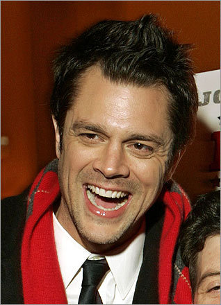 'Jackass' funnyman Johnny Knoxville is no stranger to the fauxhawk, though he often moves between the hair style and a more flattened-out look.
