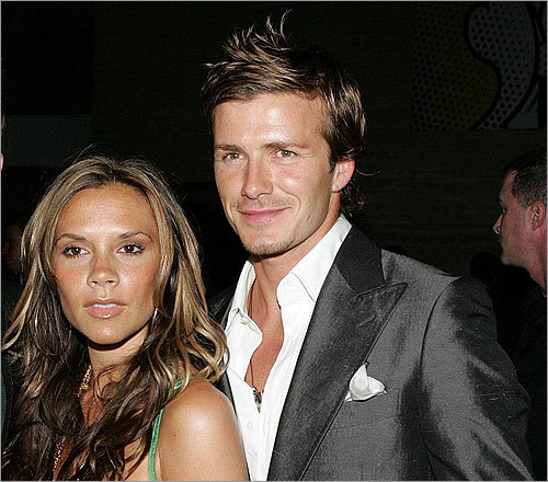 Soccer star and Posh Spice's husband David Beckham has been almost as much an ambassador for the fauxhawk as for soccer. In this June 3, 2005, photo with his wife, Victoria Beckham, he posed at 'The David Beckham Academy' launch party at Creative Artists Agency in Beverly Hills, Calif.