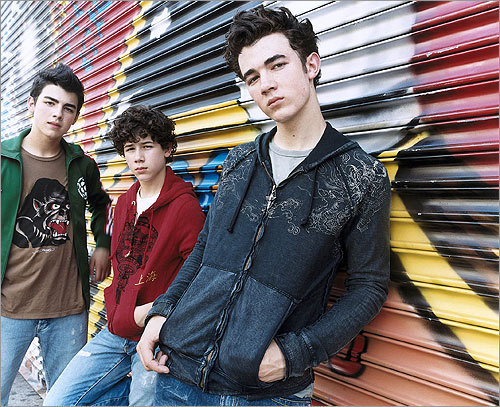 Before they were 'Rolling Stone' coverboys and hirsute Disney Channel phenoms, the Jonas Brothers were just a regular band of young dudes trying to make it. And, yes, Joe Jonas proudly sported a fauxhawk in this 2005 promotional photo.