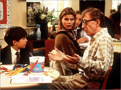 Eric Lloyd, Mariel Hemingway, and Woody Allen
