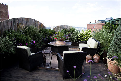 The Living Room Portion Of Semmelman And Ortweins North End Roof Deck Is Perfect