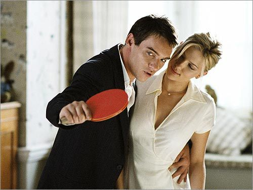 Jonathan Rhys Meyers and Scarlett Johansson