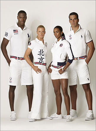 What a racquet The US team, in casual uniforms designed by Ralph Lauren, look as if they've recently arrived from a Newport tennis club. Think 'The Great Gatsby' goes to games. Let's hope those blazing whites are stain-resistant, especially when teams in tougher uniforms start bullying them around.