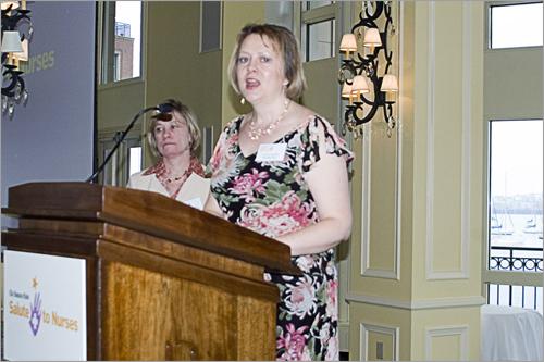 Honoree Teresa Colacitti accepts her award.