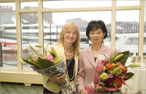 Judges Gail Lenehan, left, and Lin Zahn.